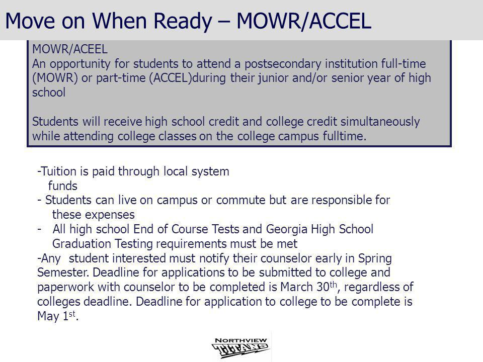 Move on When Ready – MOWR/ACCEL Move on When Ready