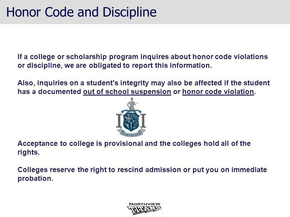 Honor Code and Discipline