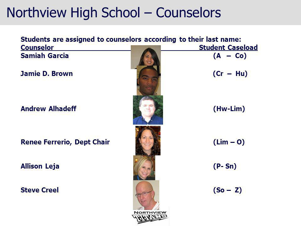 Northview High School – Counselors