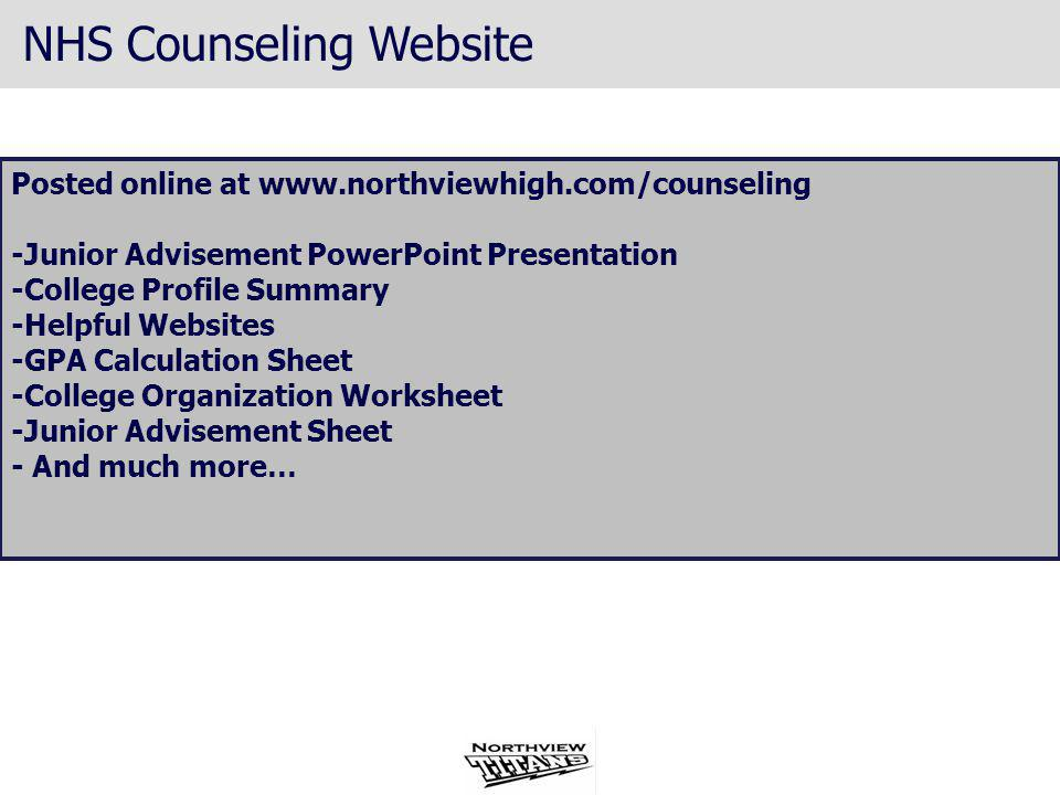 NHS Counseling Website