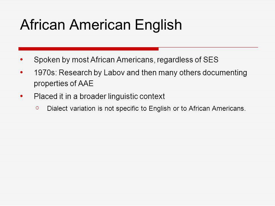 African American English