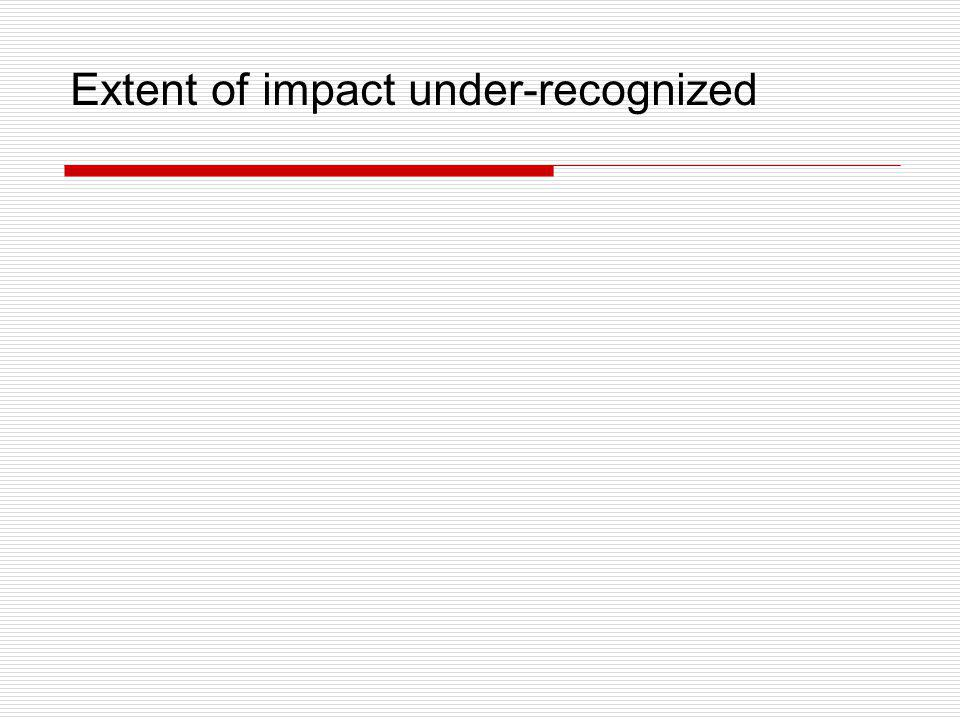 Extent of impact under-recognized