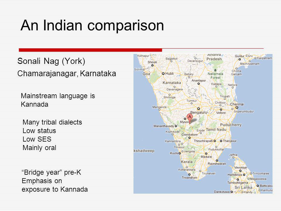 An Indian comparison Sonali Nag (York) Chamarajanagar, Karnataka