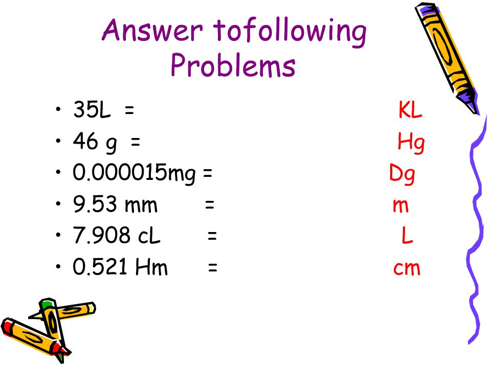 Answer tofollowing Problems