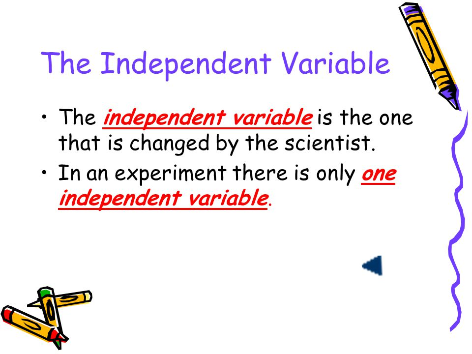 The Independent Variable