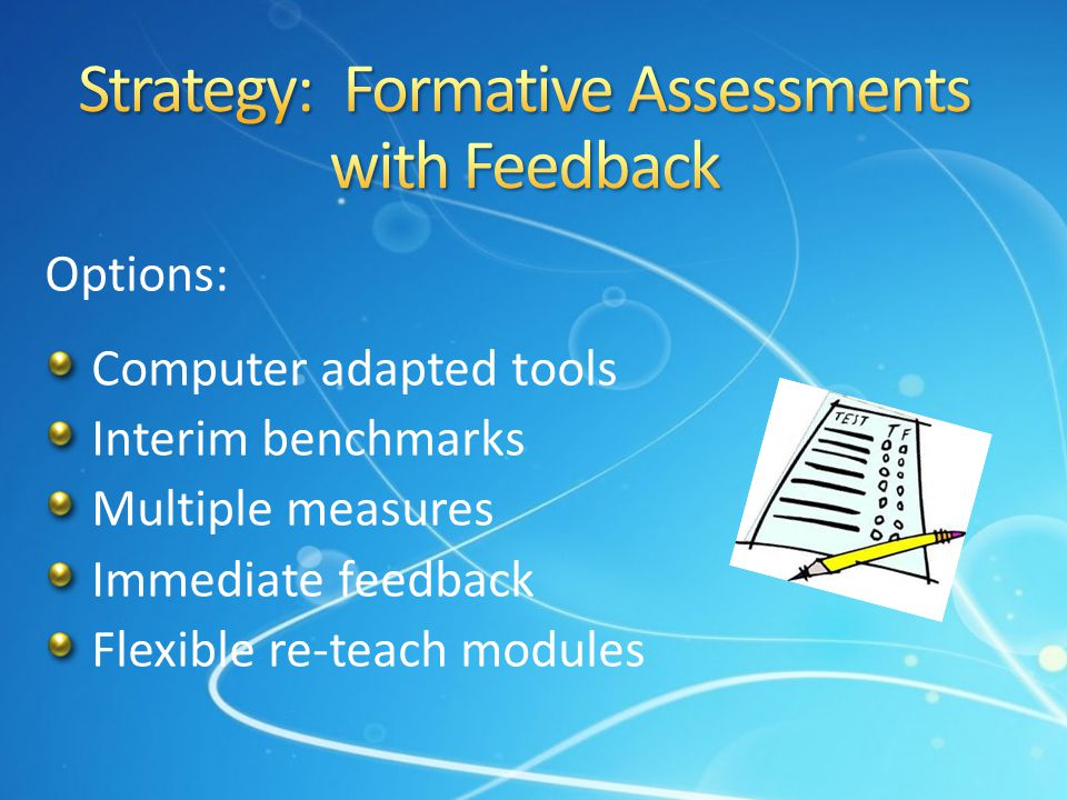 Strategy: Formative Assessments with Feedback