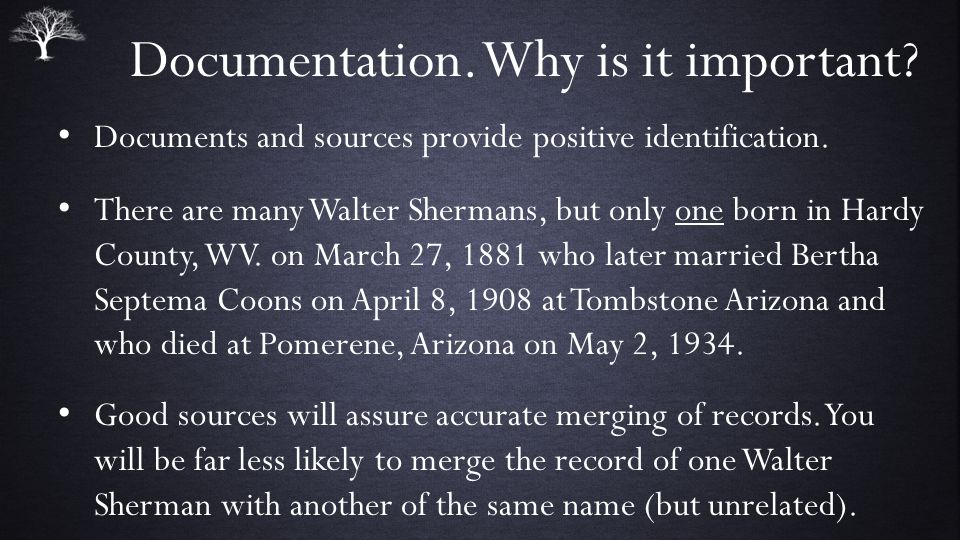 Documentation. Why is it important