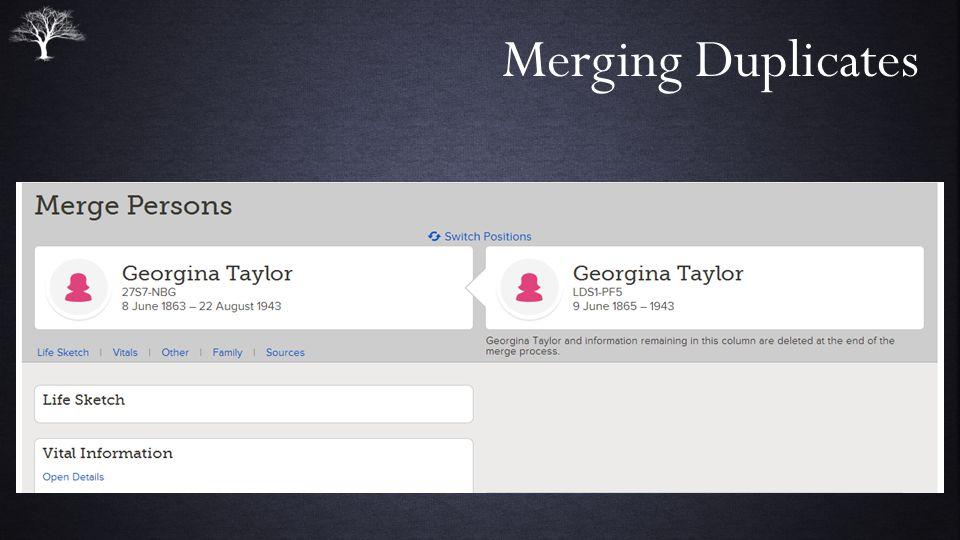 Merging Duplicates