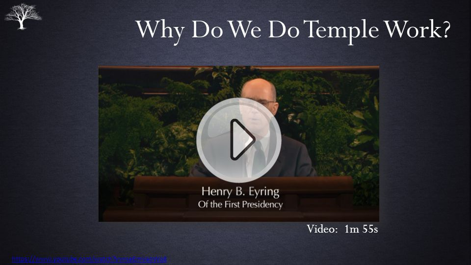 Why Do We Do Temple Work Video: 1m 55s