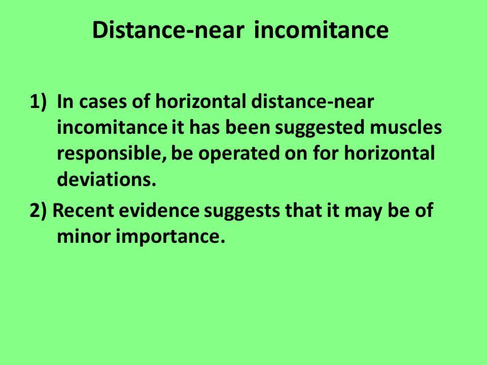 Distance-near incomitance