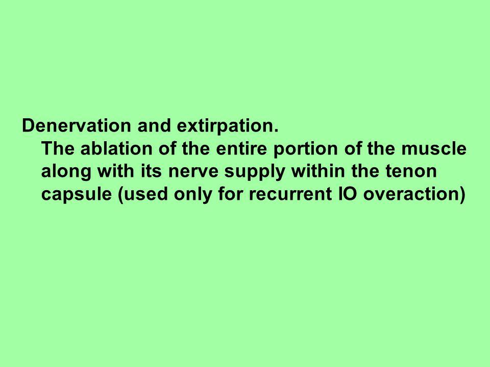 Denervation and extirpation.
