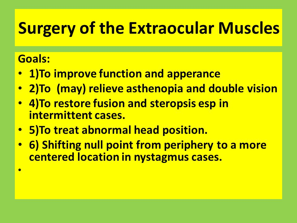 Surgery of the Extraocular Muscles