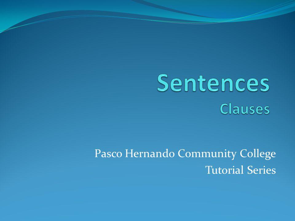 Pasco Hernando Community College Tutorial Series