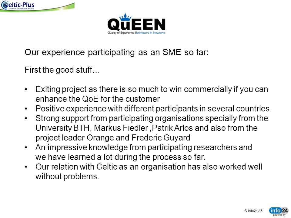 Our experience participating as an SME so far: