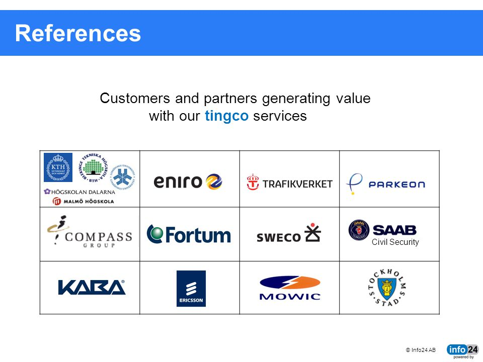References Customers and partners generating value