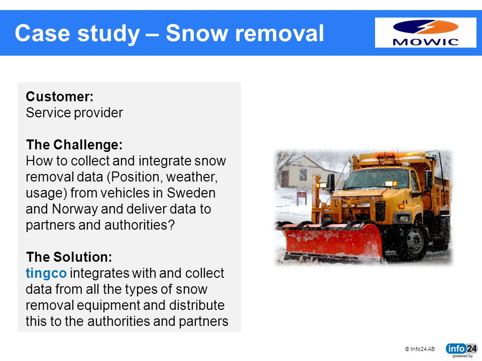 Case study – Snow removal