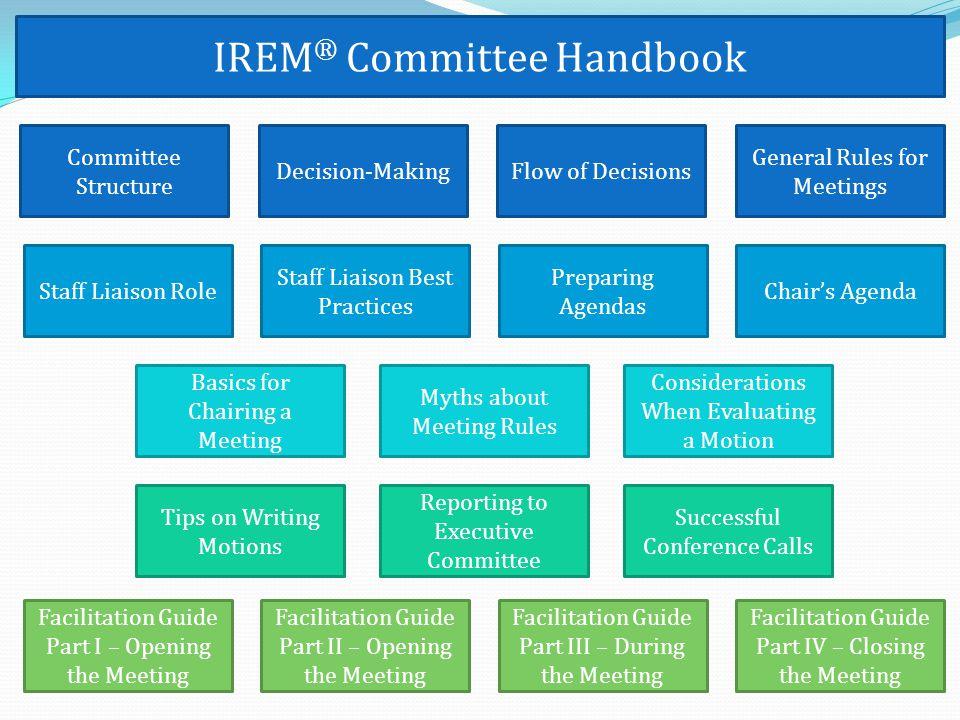 IREM® Committee Handbook