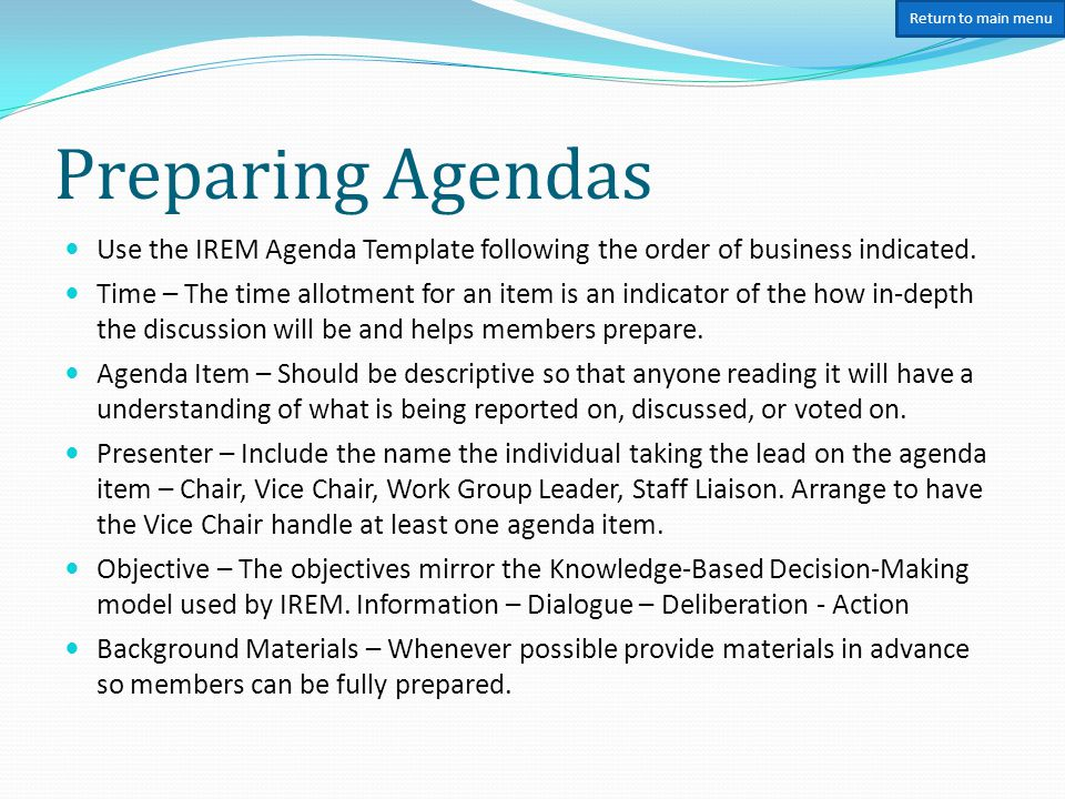 Irem® Committee Handbook - Ppt Download