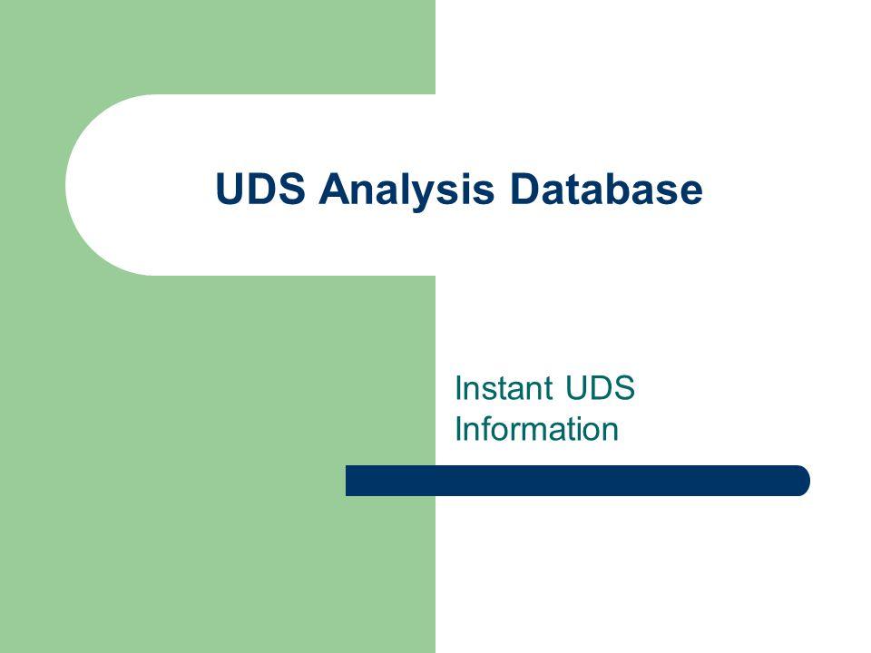 Instant UDS Information