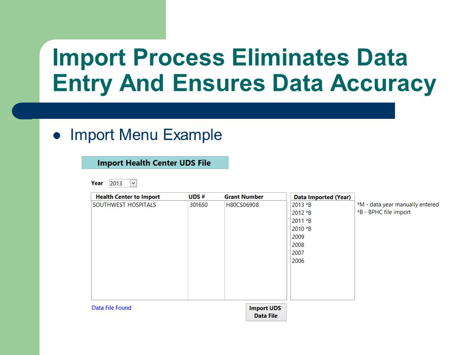 Import Process Eliminates Data Entry And Ensures Data Accuracy