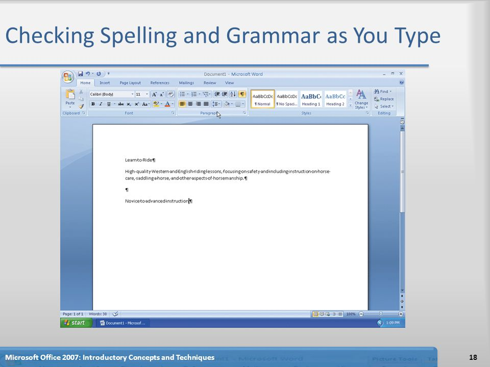 Checking Spelling and Grammar as You Type