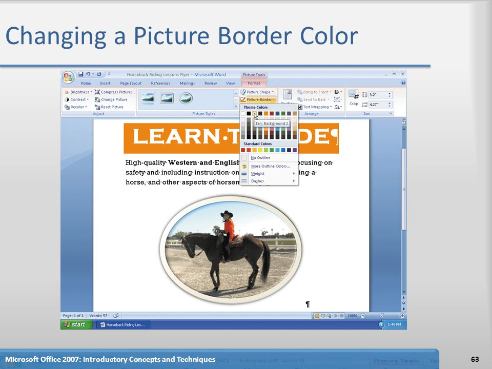 Changing a Picture Border Color