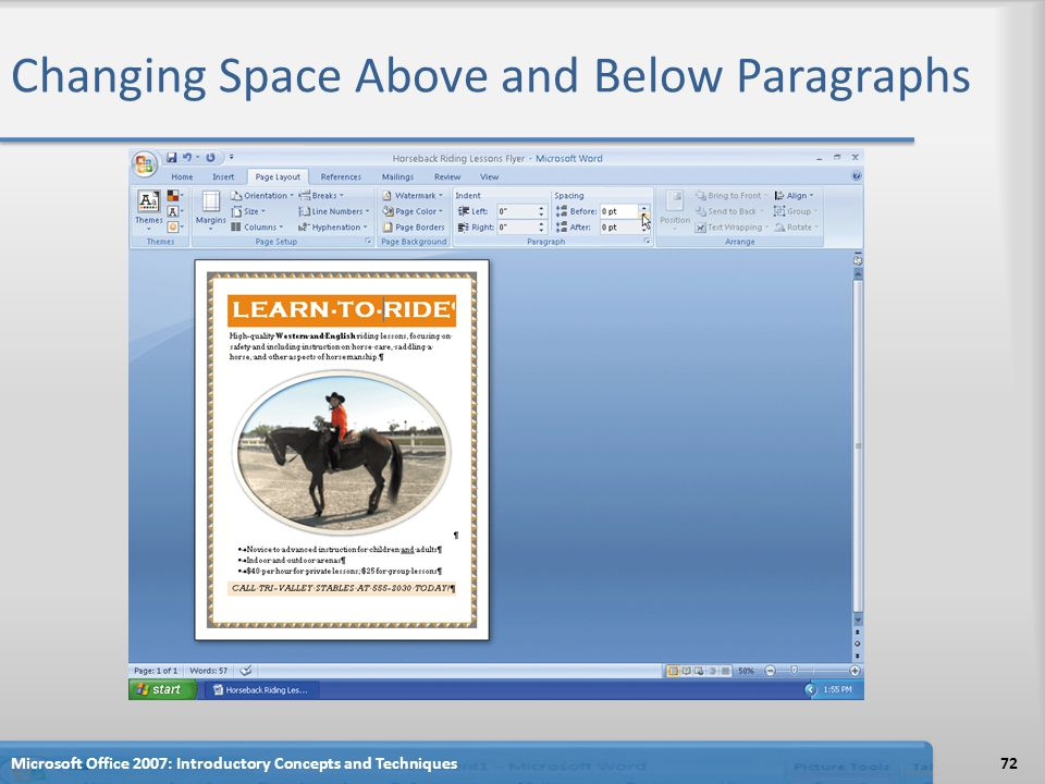 Changing Space Above and Below Paragraphs