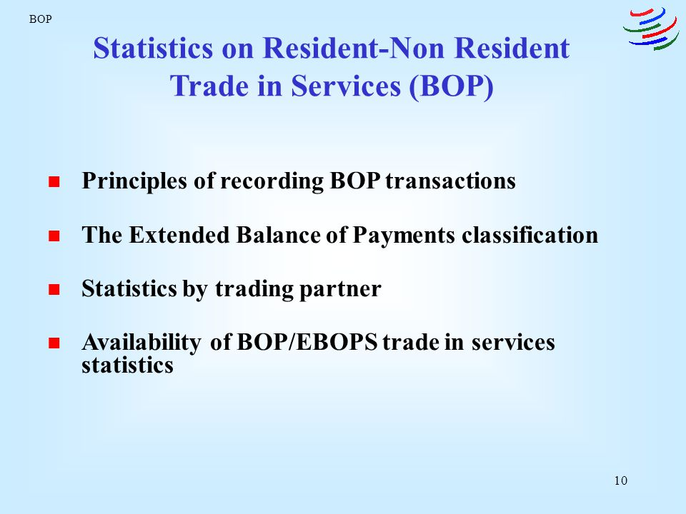 Statistics on Resident-Non Resident Trade in Services (BOP)