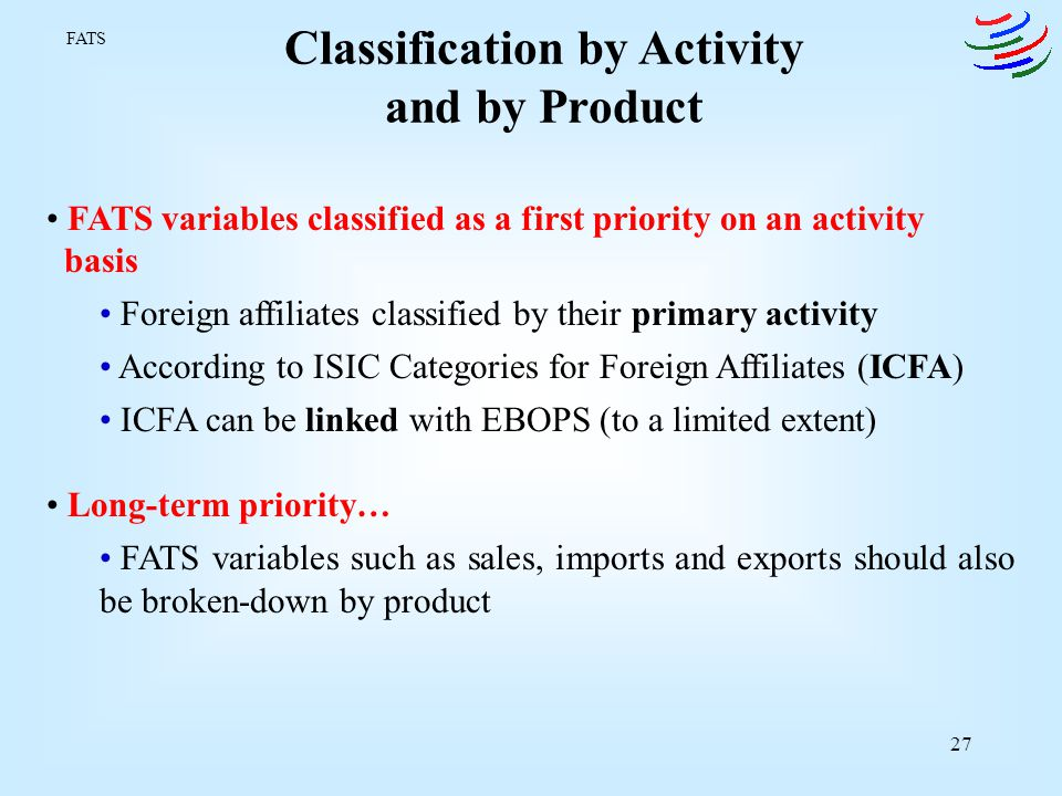 Classification by Activity