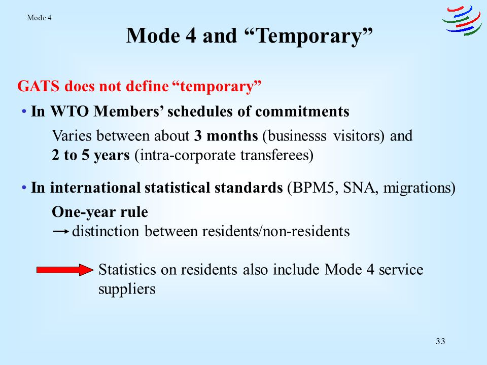 Mode 4 and Temporary GATS does not define temporary