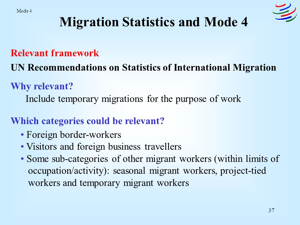 Migration Statistics and Mode 4