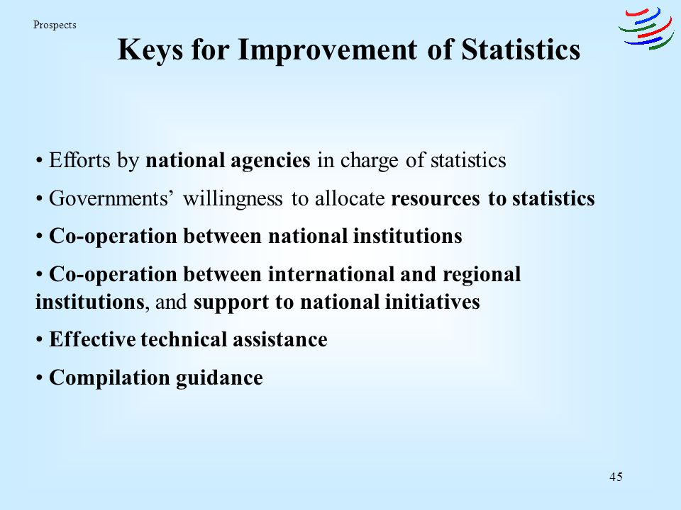 Keys for Improvement of Statistics