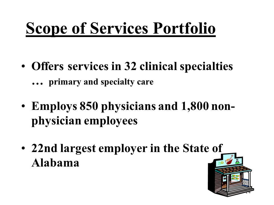Scope of Services Portfolio