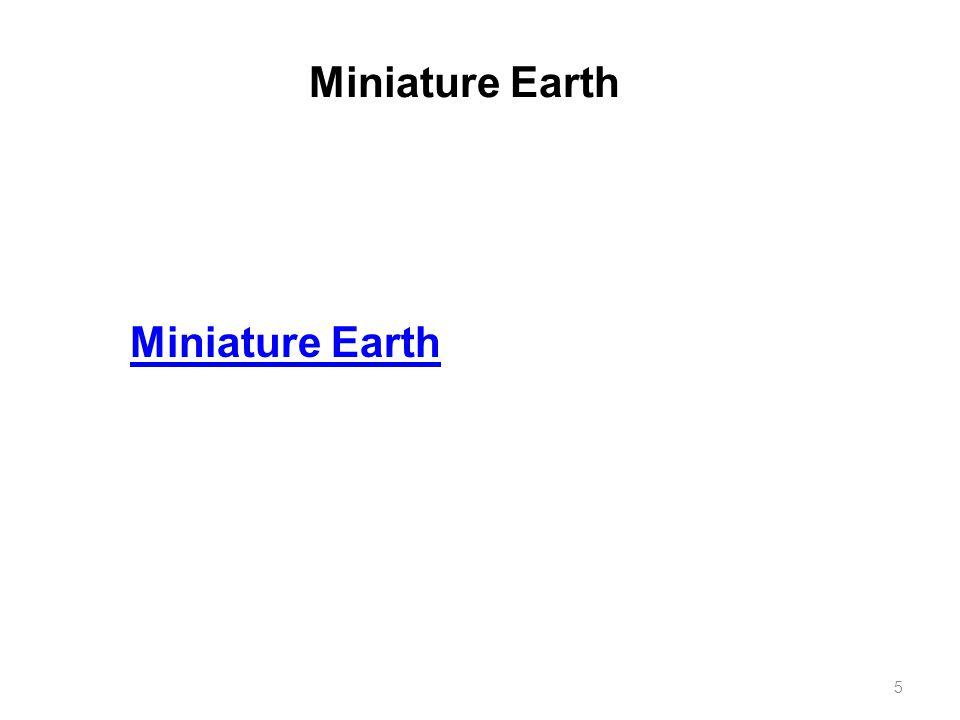 Miniature Earth Miniature Earth
