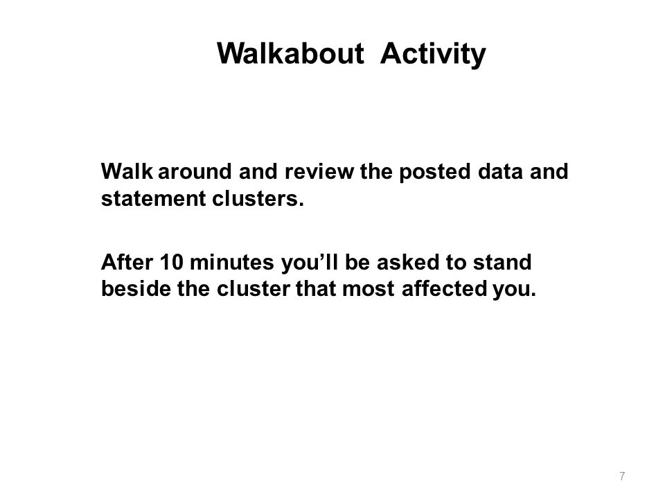 Walkabout Activity