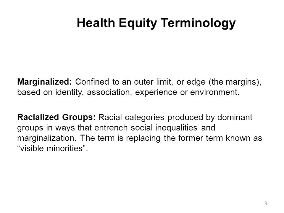 Health Equity Terminology