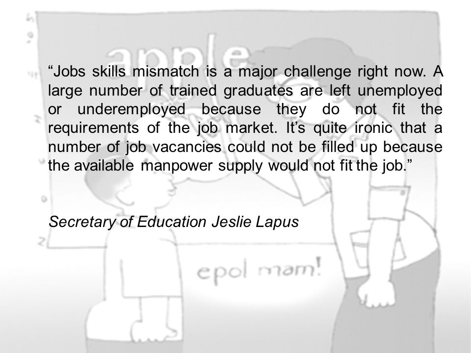 Jobs skills mismatch is a major challenge right now