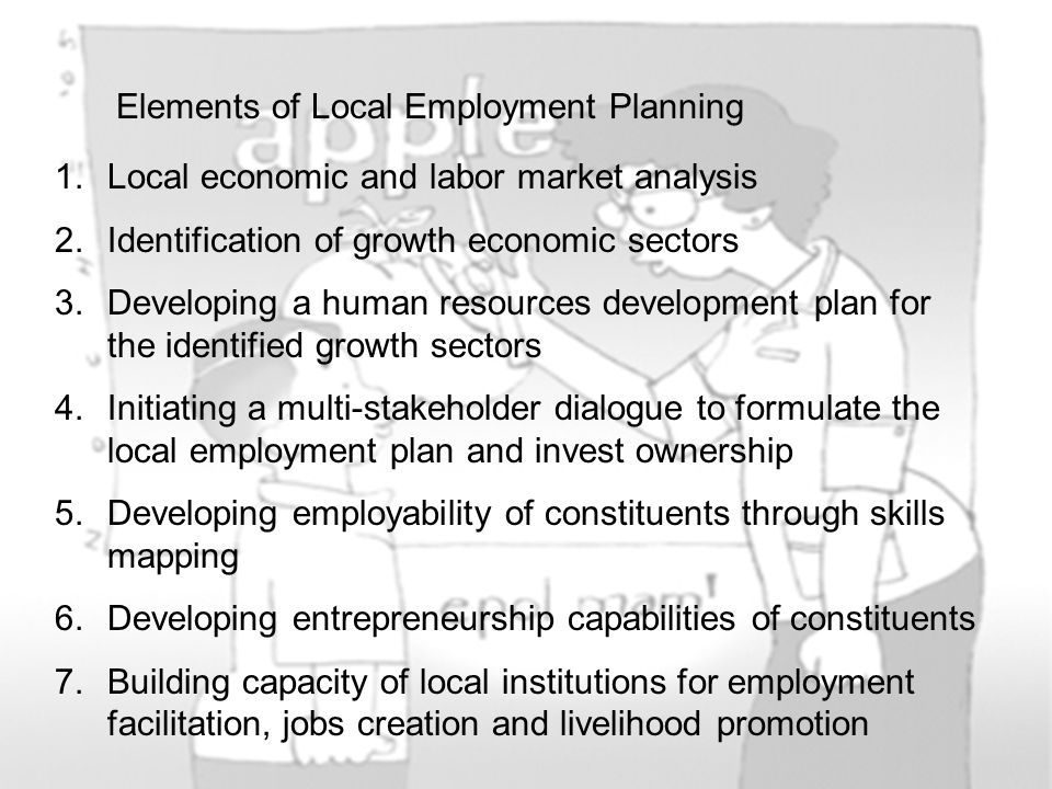 Elements of Local Employment Planning