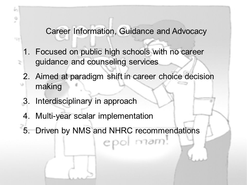 Career Information, Guidance and Advocacy