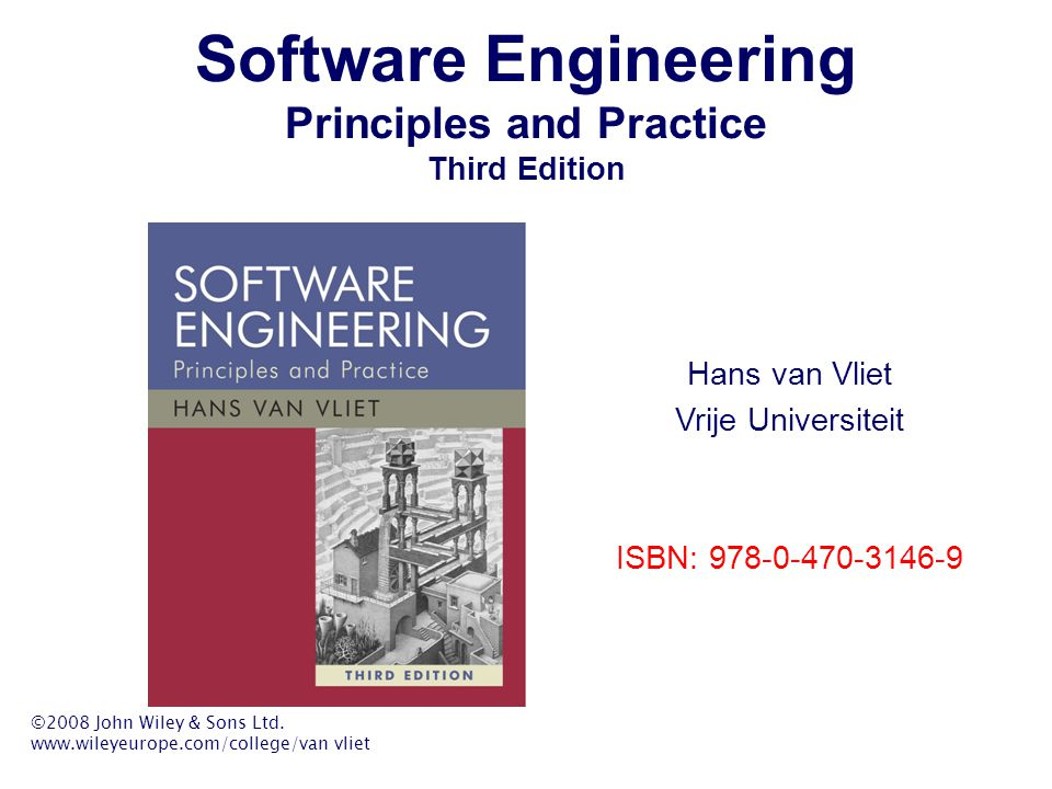 Software Engineering Principles and Practice Third Edition