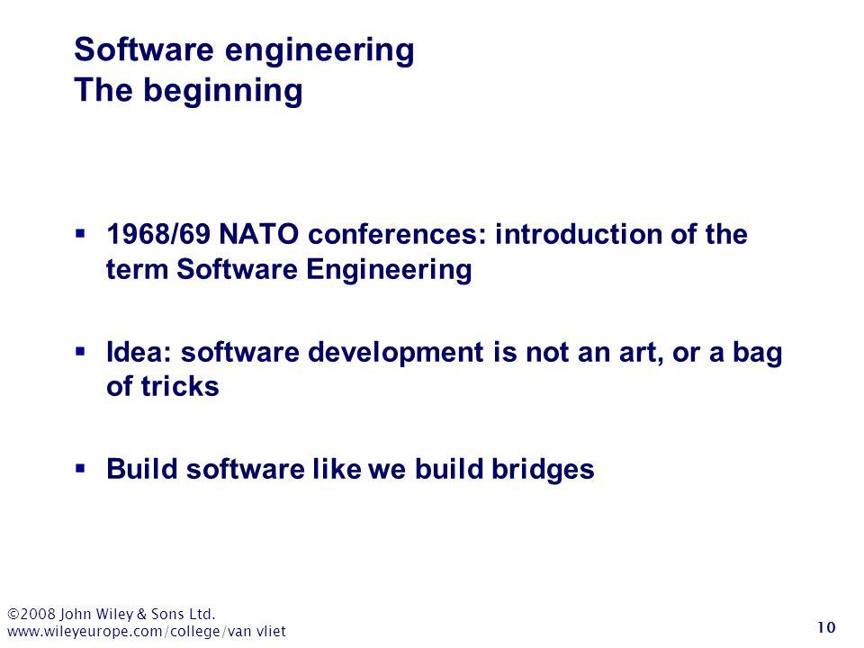 Software engineering The beginning