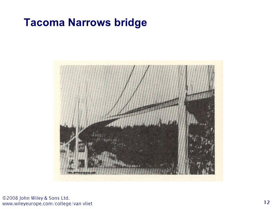 Tacoma Narrows bridge ©2008 John Wiley & Sons Ltd.