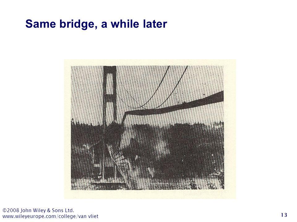 Same bridge, a while later