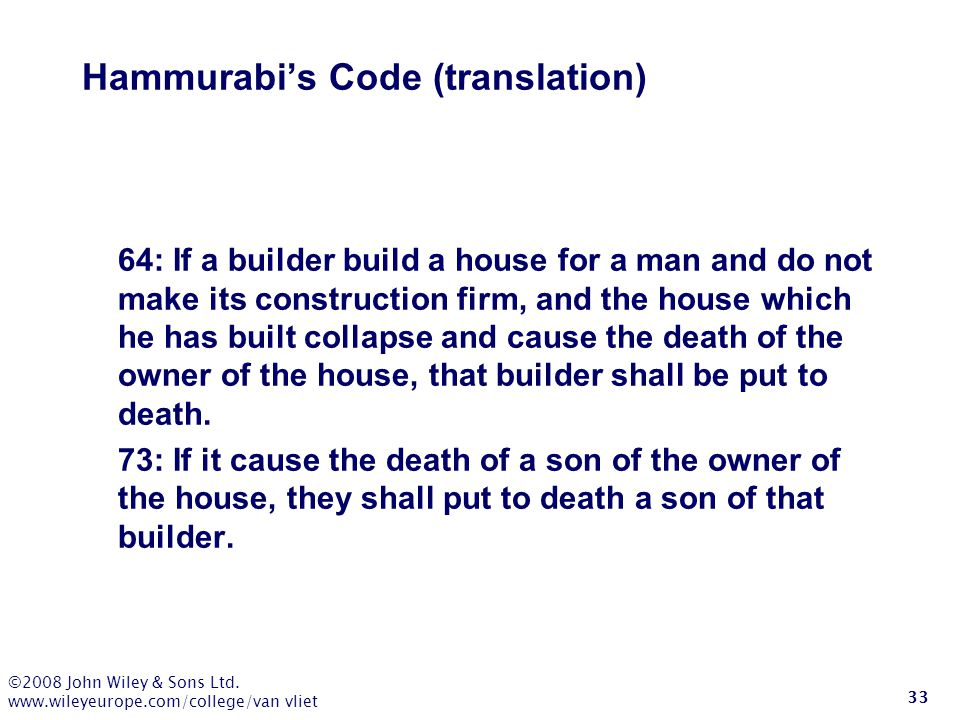 Hammurabi's Code (translation)