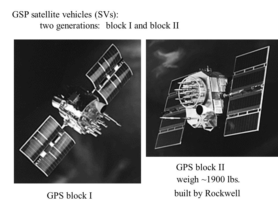 GSP satellite vehicles (SVs):