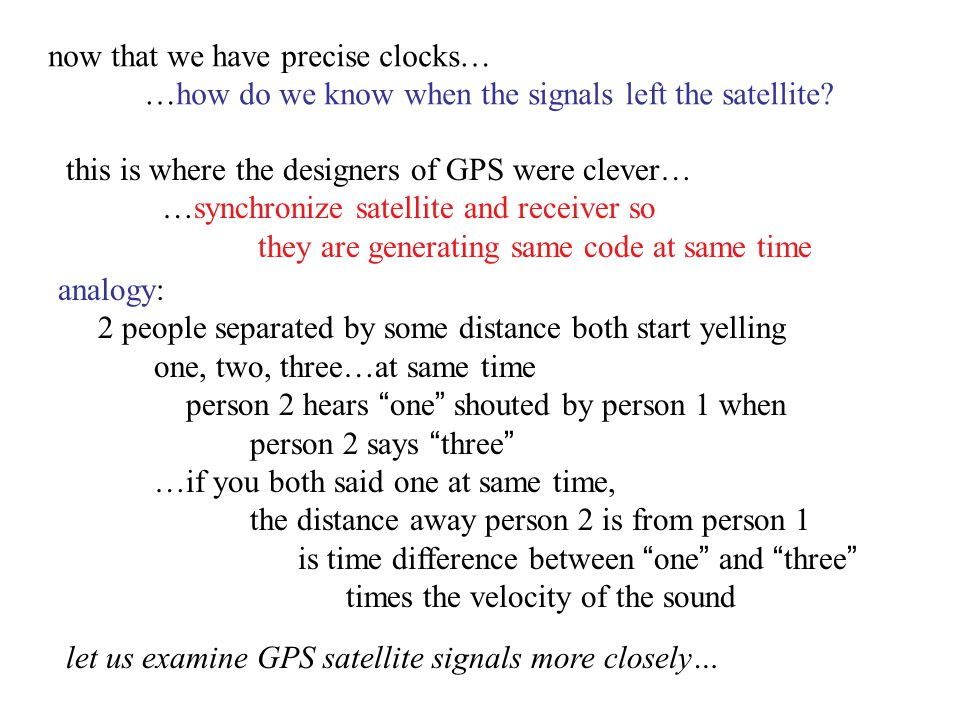 now that we have precise clocks…