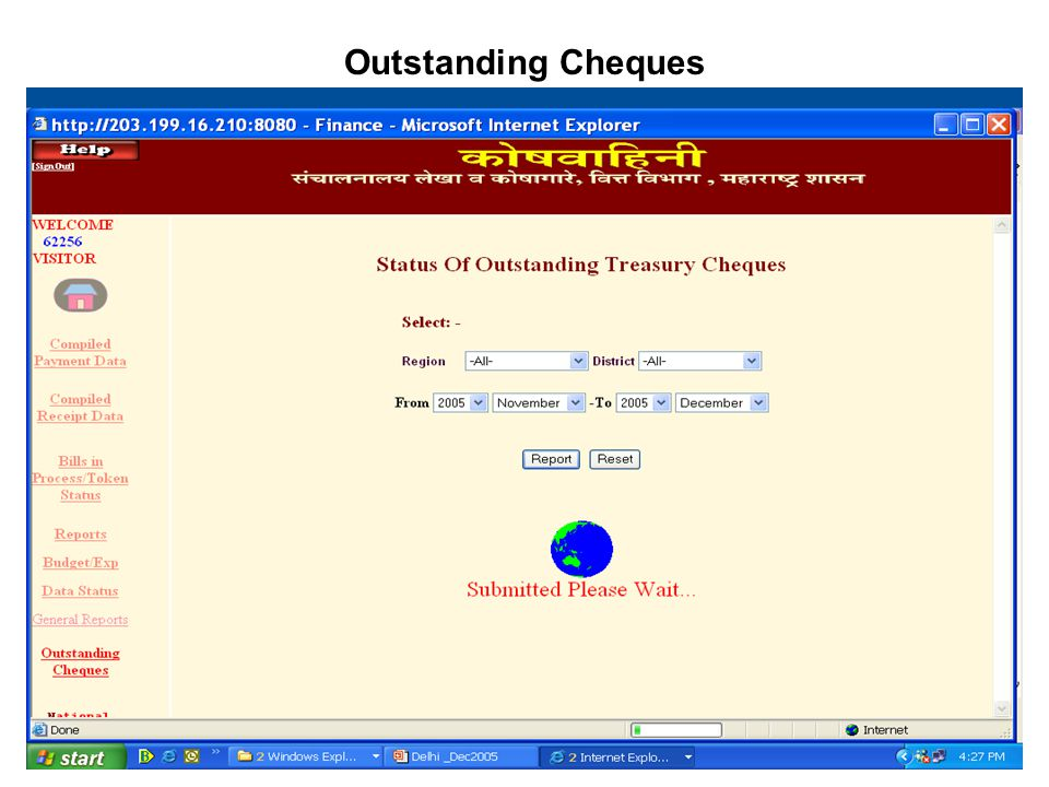 Outstanding Cheques