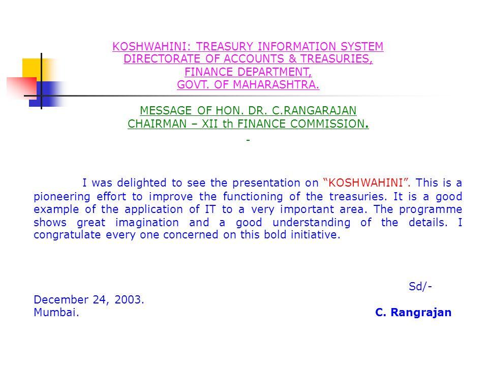 KOSHWAHINI: TREASURY INFORMATION SYSTEM