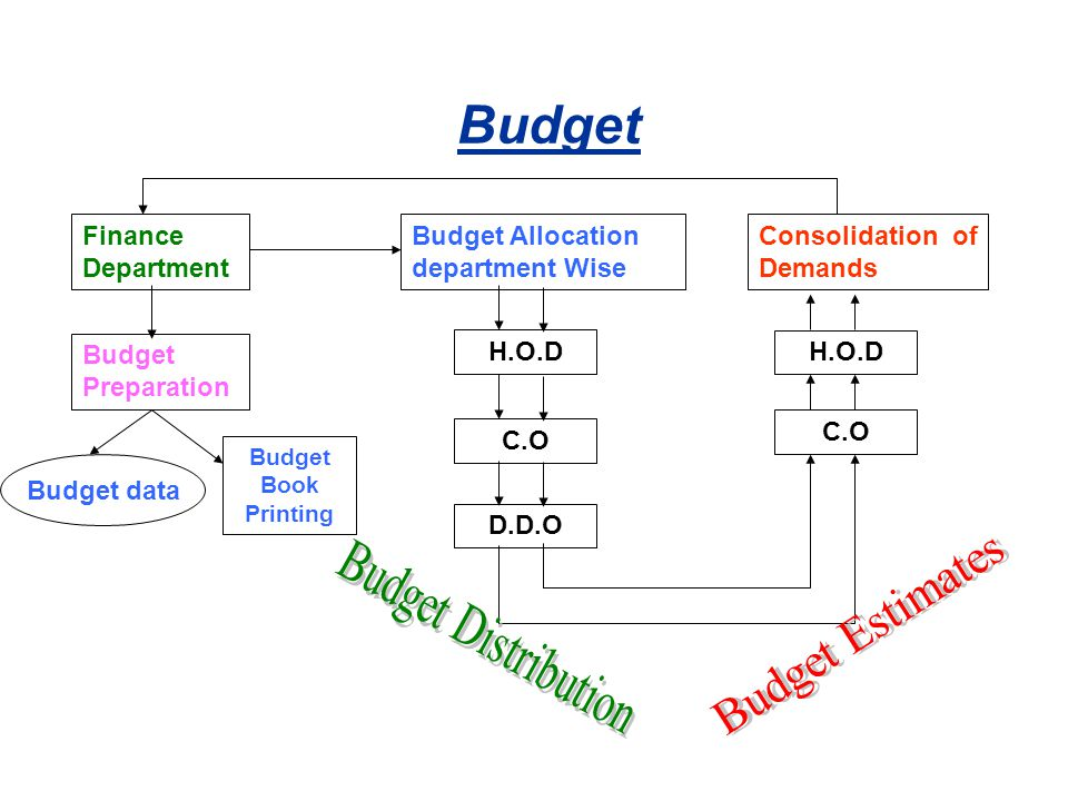 Budget Budget Distribution Budget Estimates Finance Department