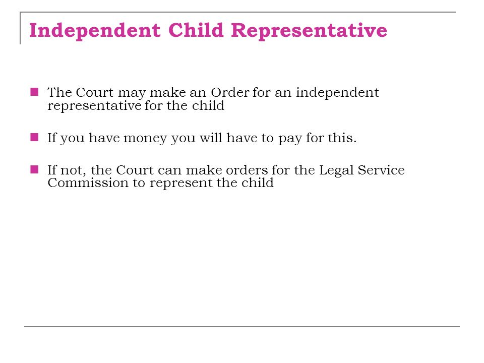 Independent Child Representative
